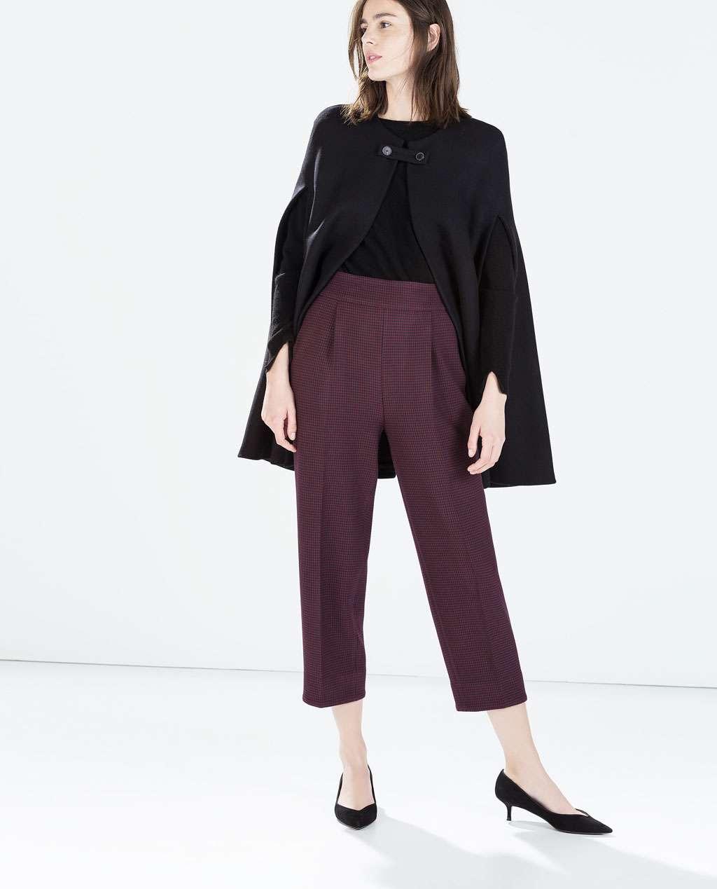 look nochevieja - marsala - zara - pantalones