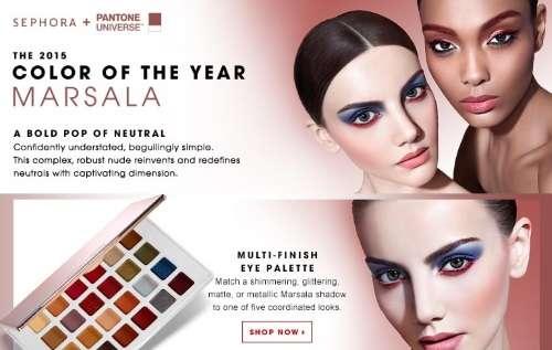 maquillaje 2015 marsala