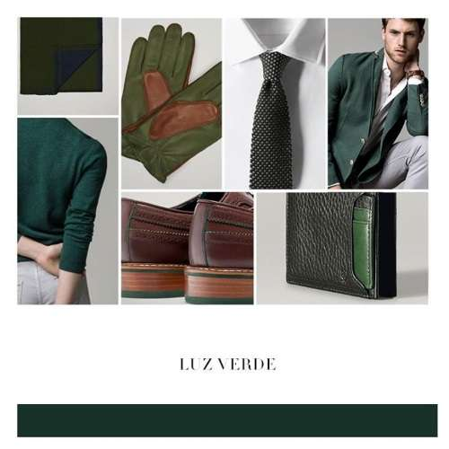 color verde moda hombre