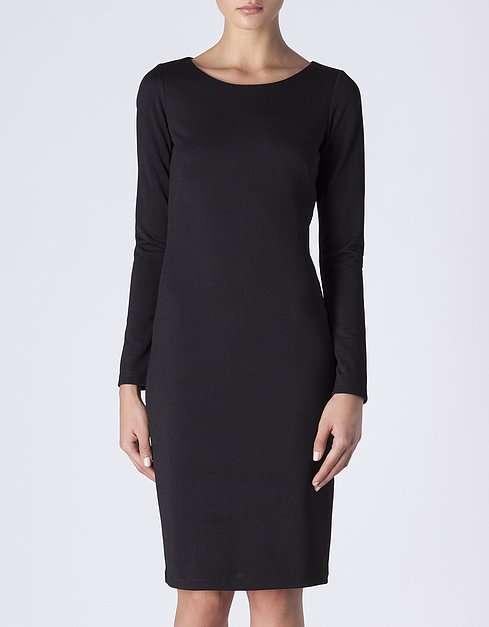 vestido de coctel negro - BLANCO