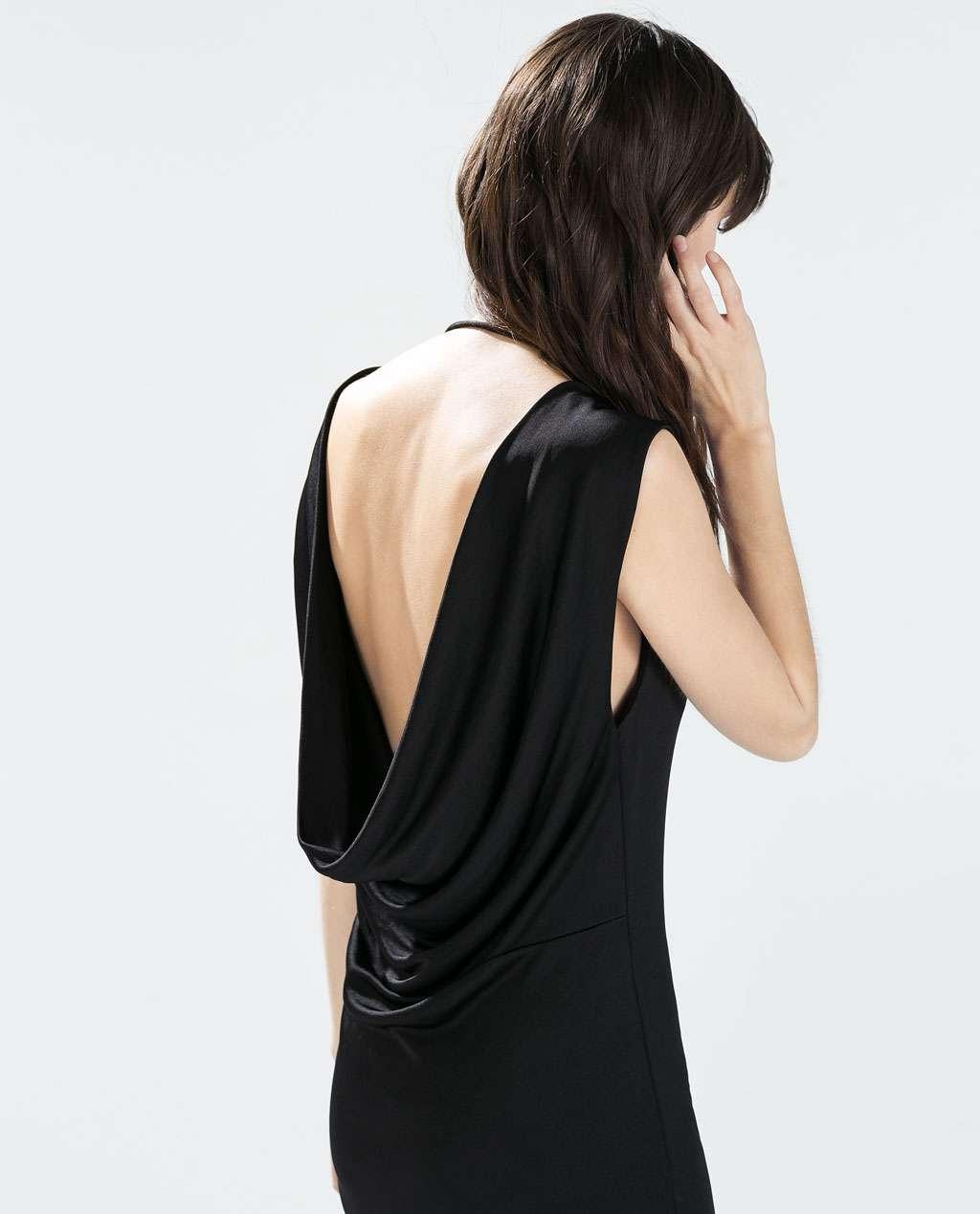 vestido de coctel negro - ZARA