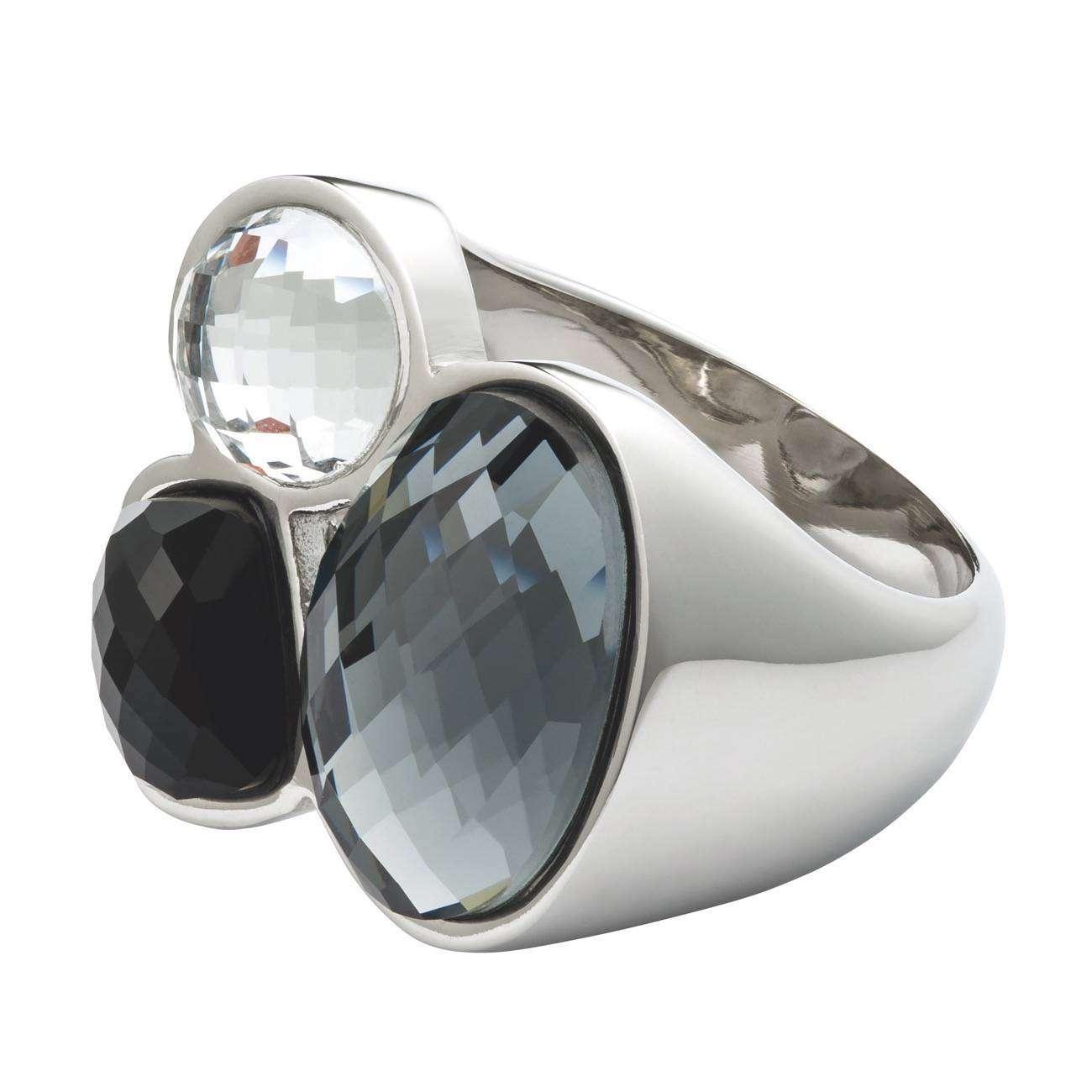 PIPPAJEAN Anillo Crystal Dream Negro PVP4990euros