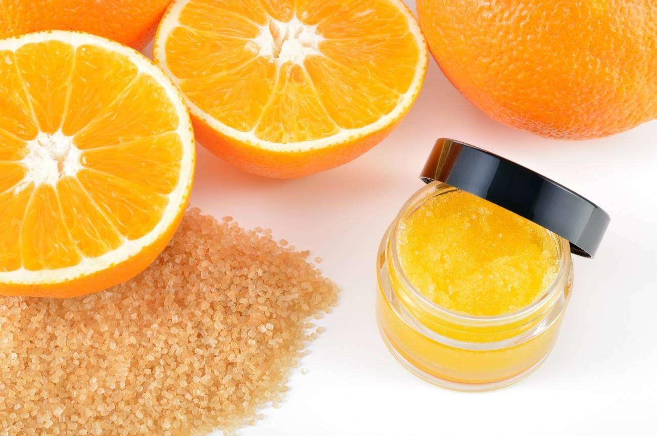 exfoliante de naranja