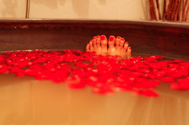 baño relax ponerse en forma