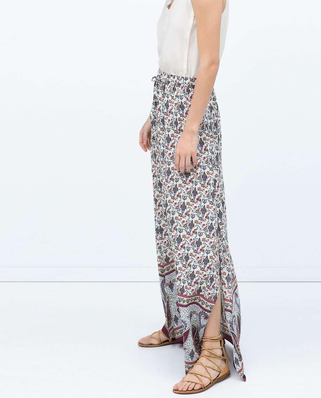 ropa de moda - falda larga zara verano 2015