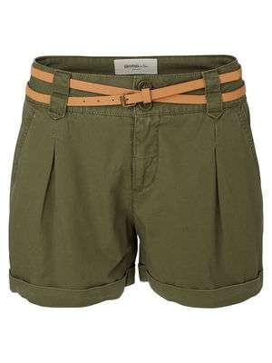 shorts verde militar top 10 vero moda