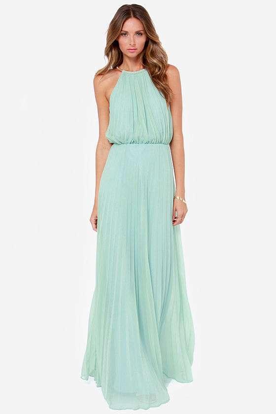 vestido aguamarina con goma para boda de noche