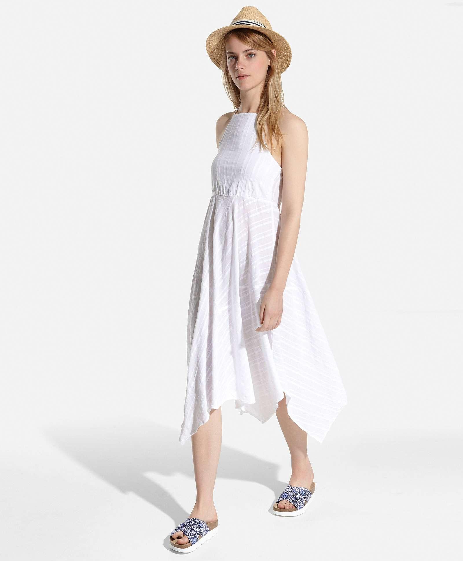 vestido asimetrico white