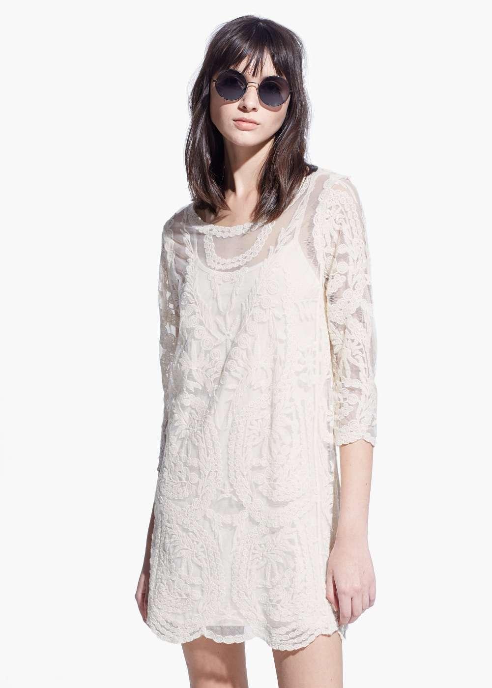 vestido boho white