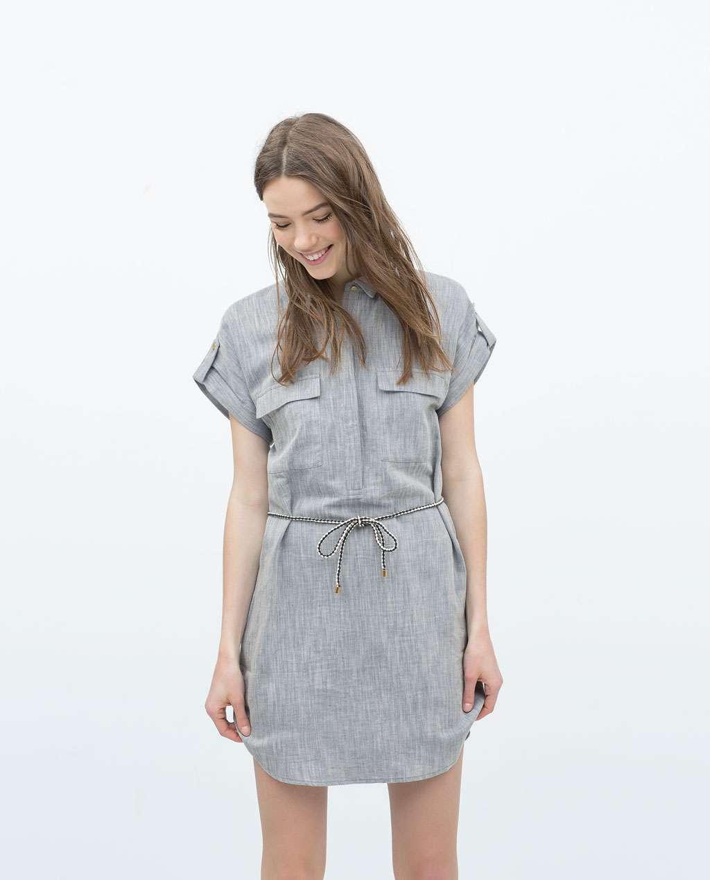vestido camisero look de oficina para verano