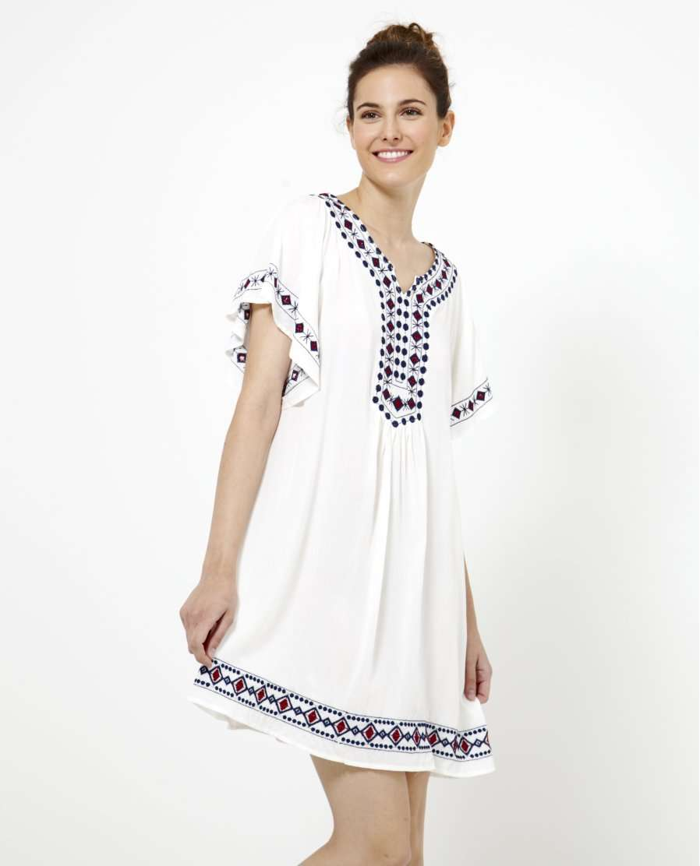 vestido estampado etnico para la oficina en verano