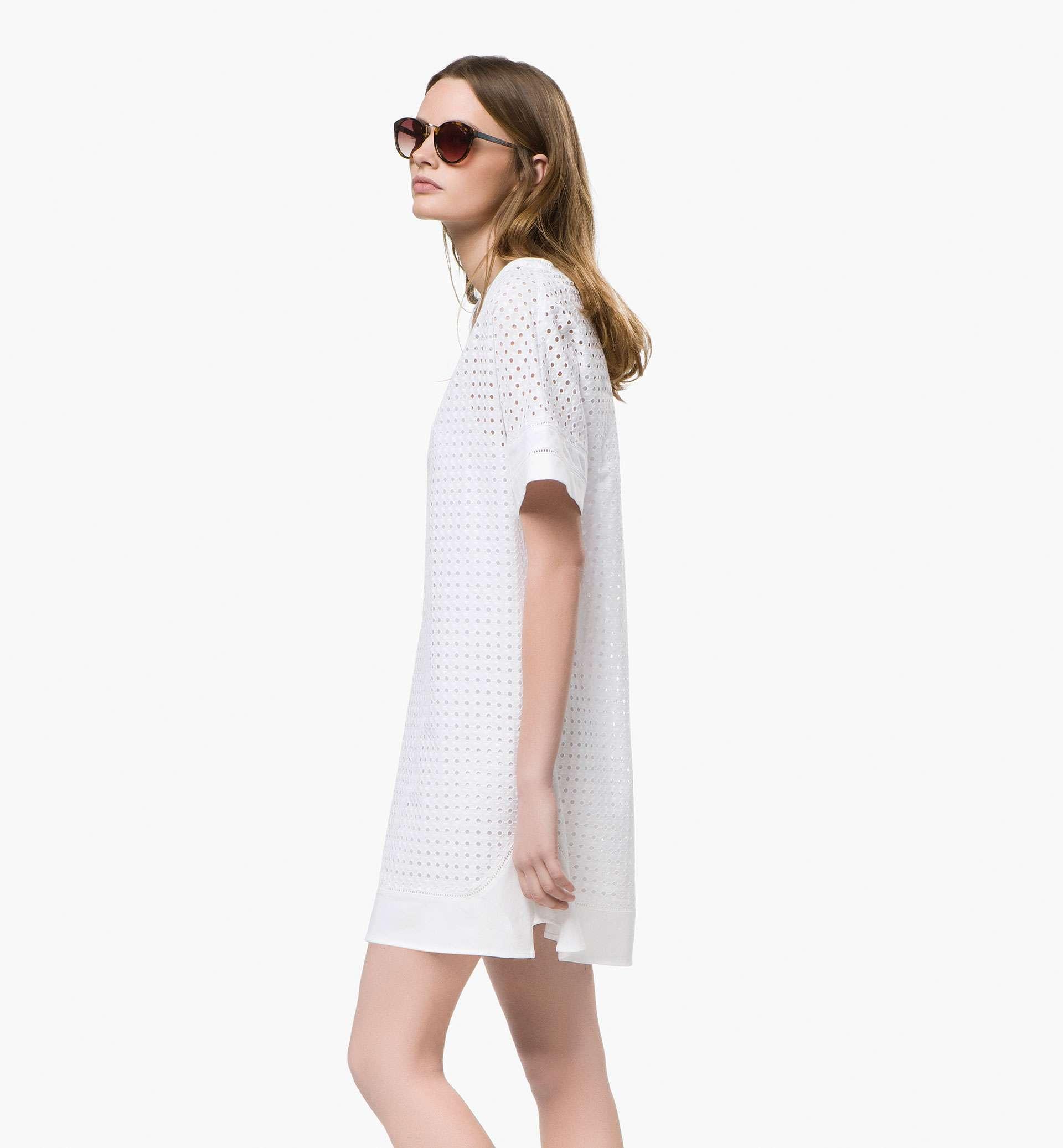 vestido troquelado white