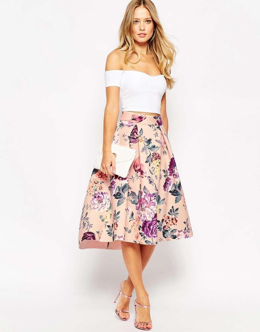 falda estampada vintage