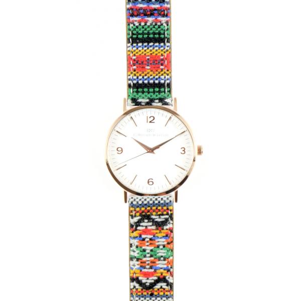 reloj estilo azteka