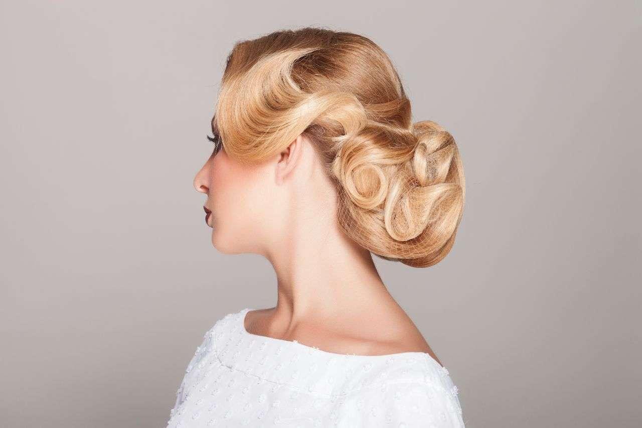 peinado facil vintage