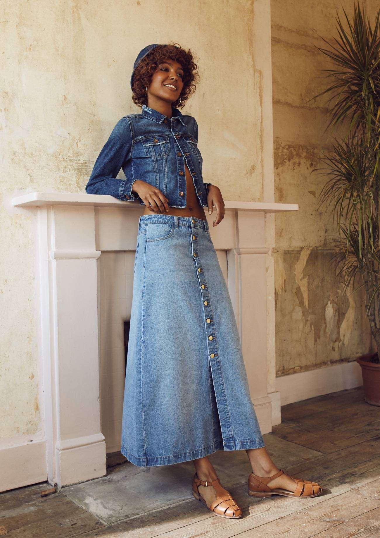 Catalogo Primark primavera - verano 2016 - falda larga vaquera