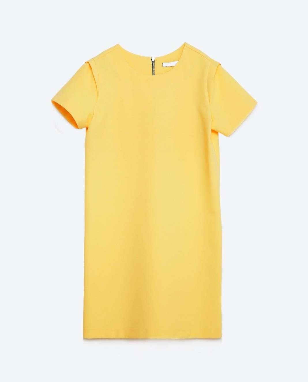 vestidos de Zara para el verano 2016 amarillo recto
