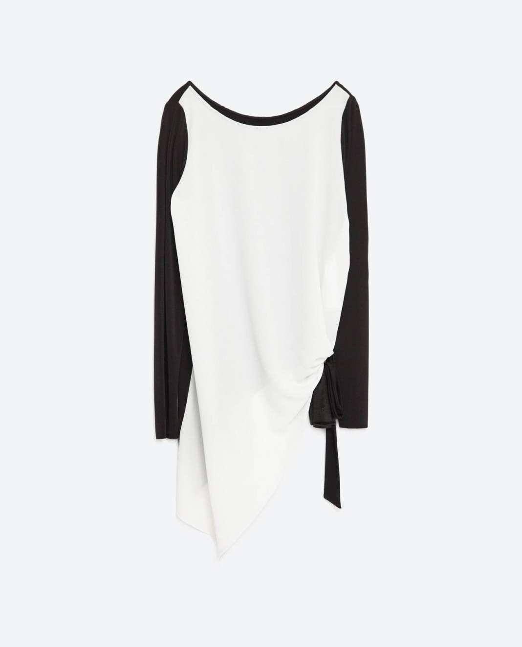 vestidos de Zara para el verano 2016 blanco y negro