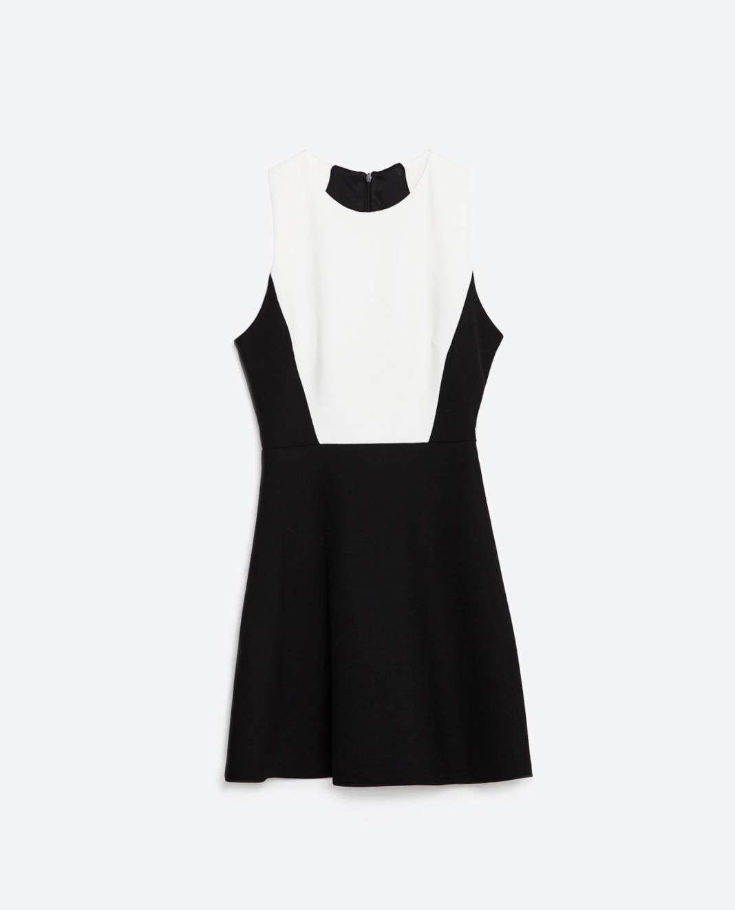 vestidos de Zara para el verano 2016 blanco y negro simetria