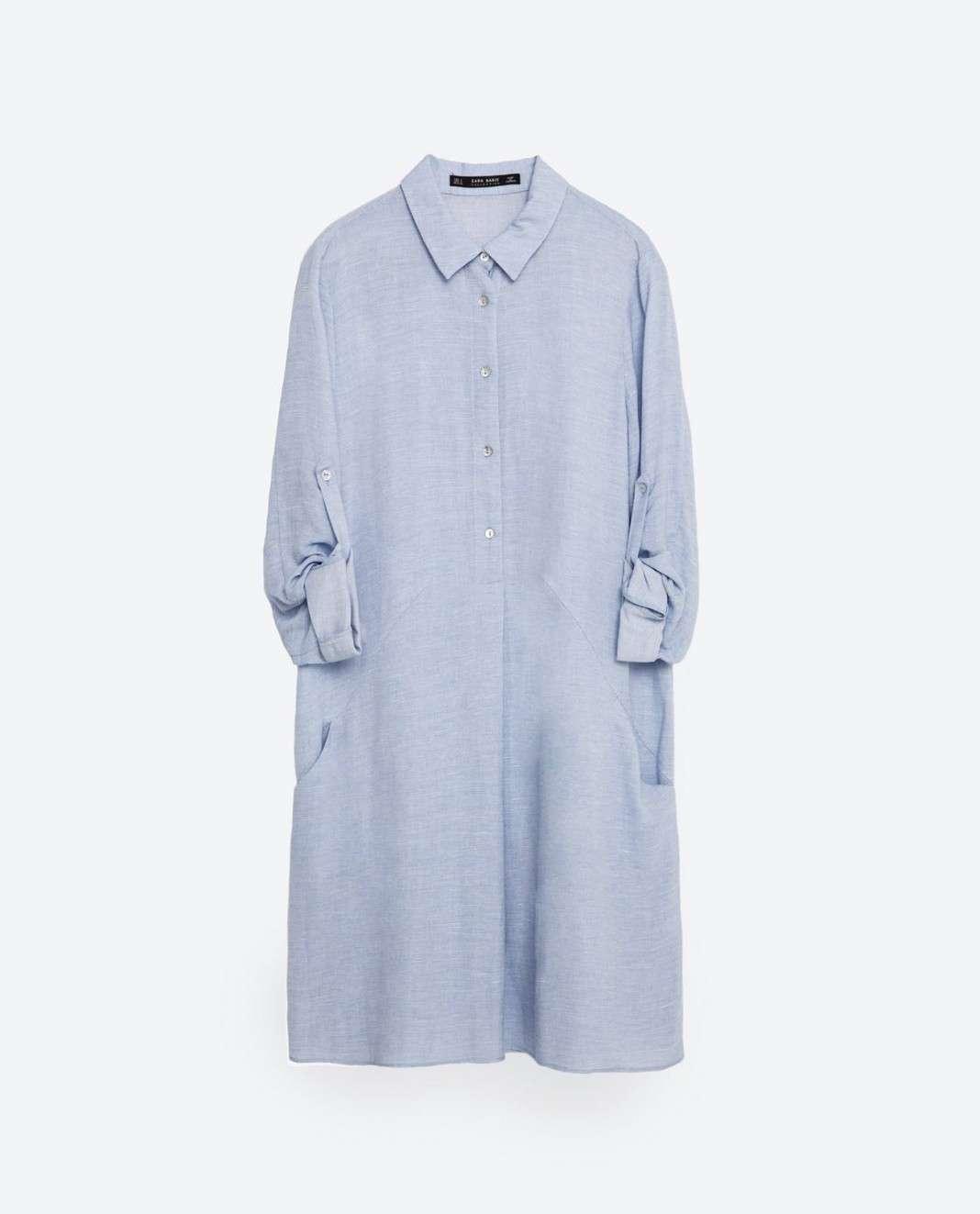 vestidos de Zara para el verano 2016 camisa
