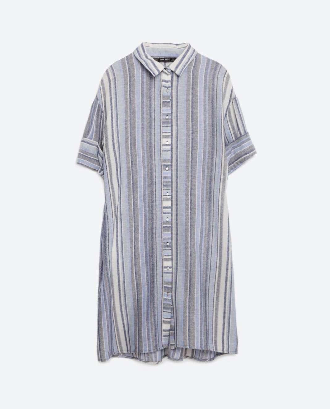vestidos de Zara para el verano 2016 camisa horizontal
