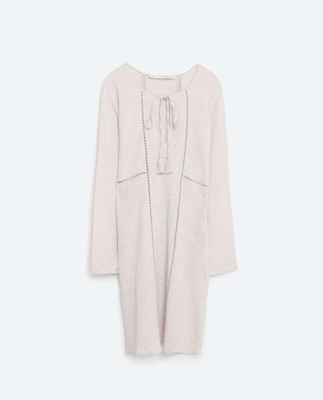 vestidos de Zara para el verano 2016 casaca blanca
