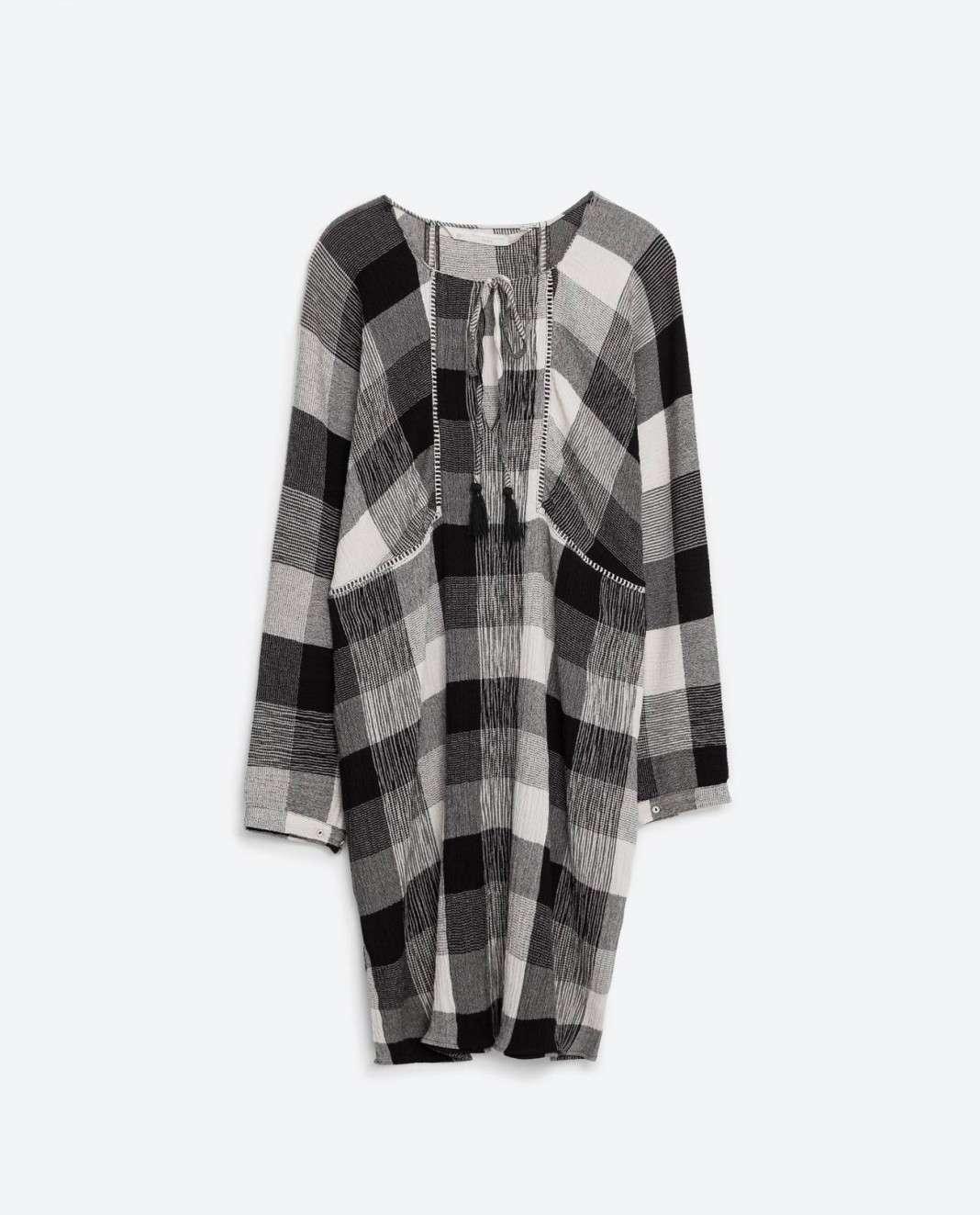 vestidos de Zara para el verano 2016 cuadros