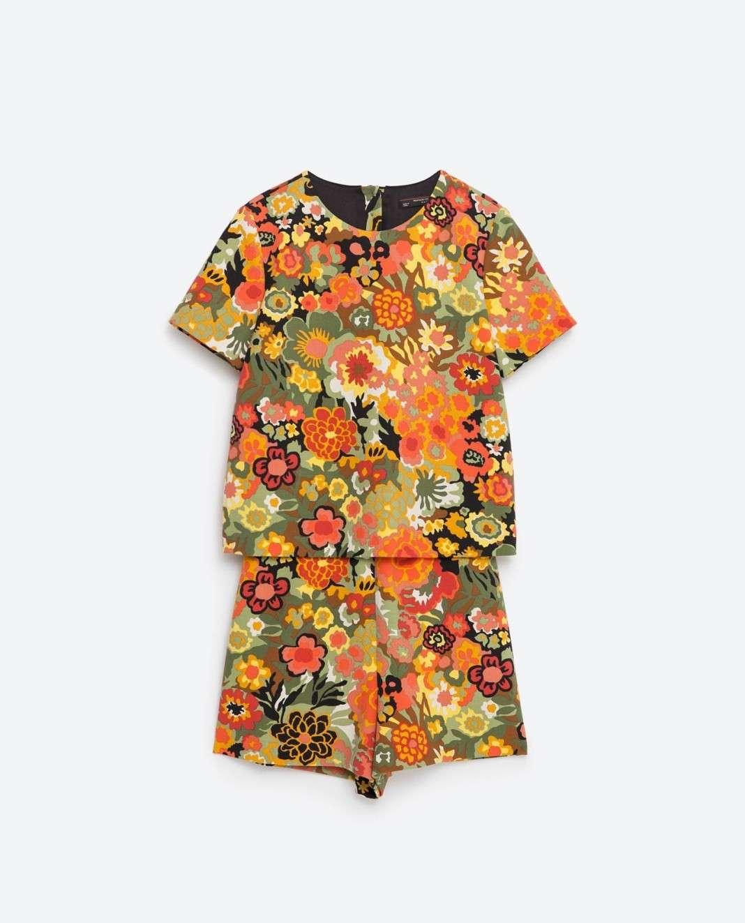vestidos de Zara para el verano 2016 flores short