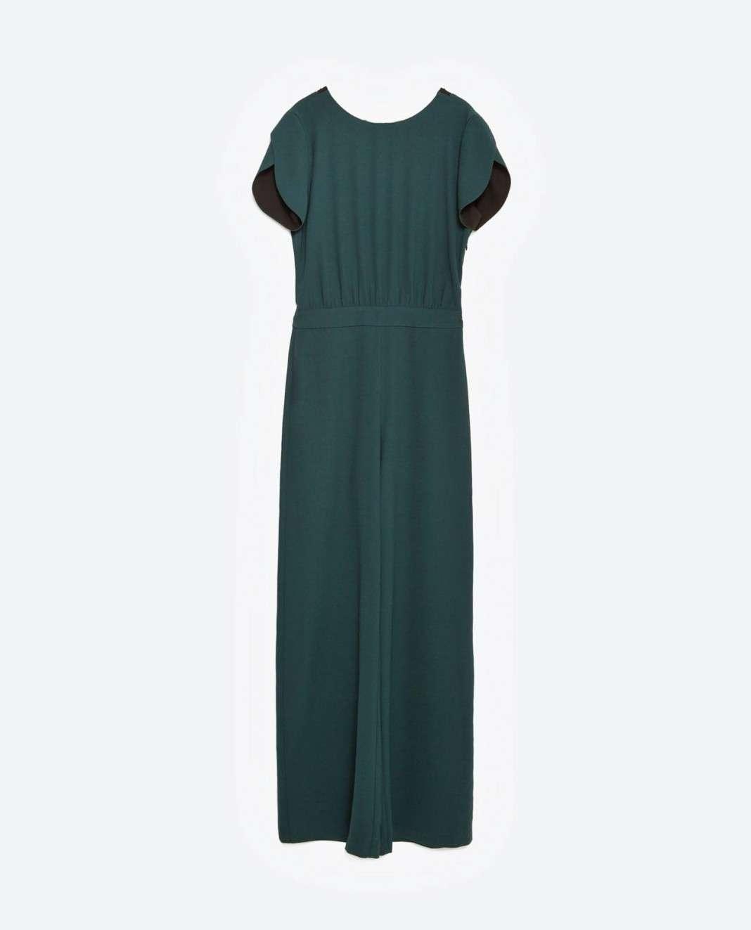vestidos de Zara para el verano 2016 largo verde