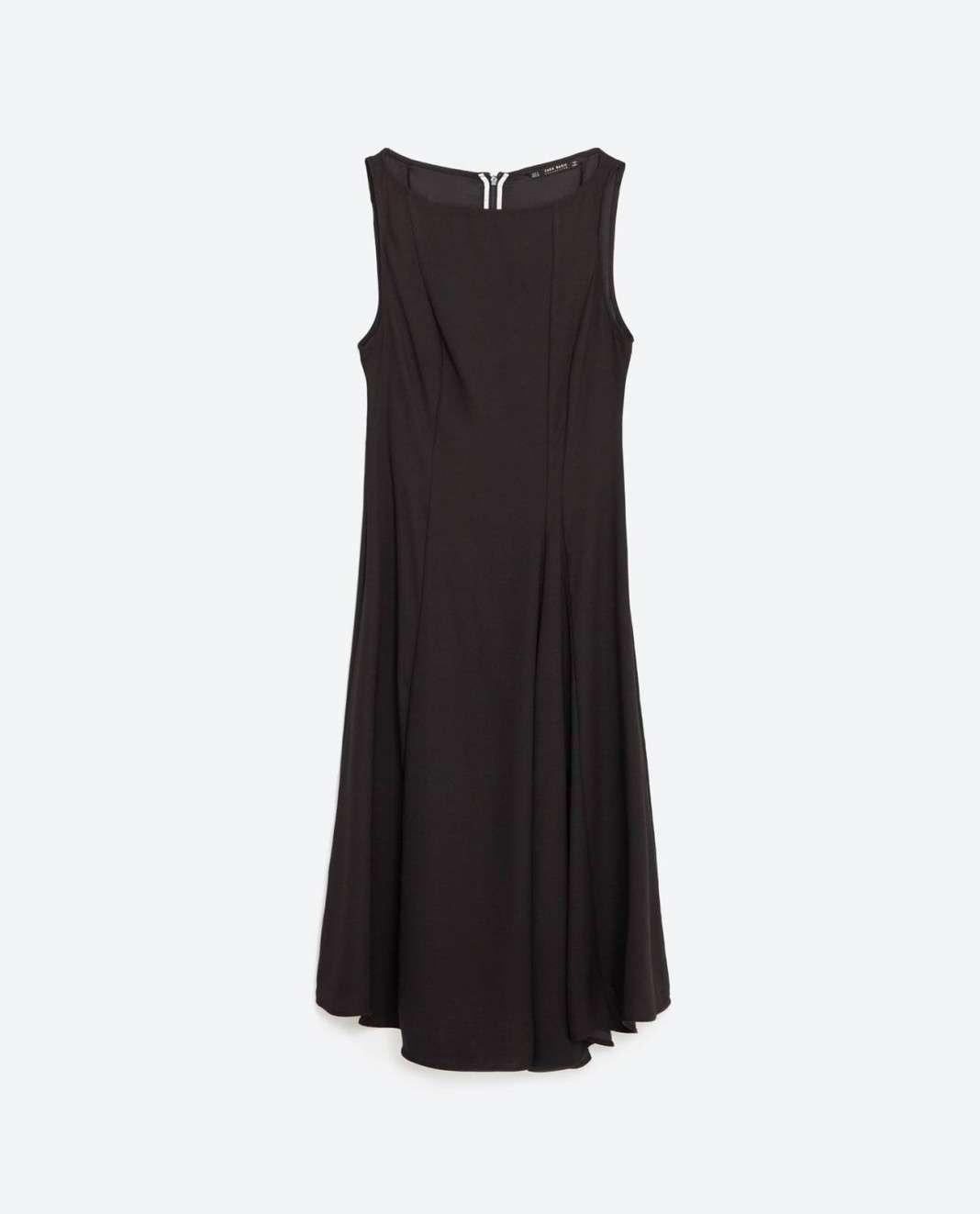 vestidos de Zara para el verano 2016 negro basico