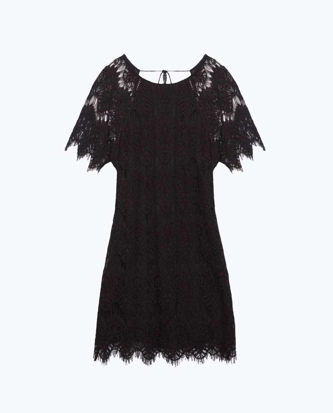 vestidos de Zara para el verano 2016 negro noche