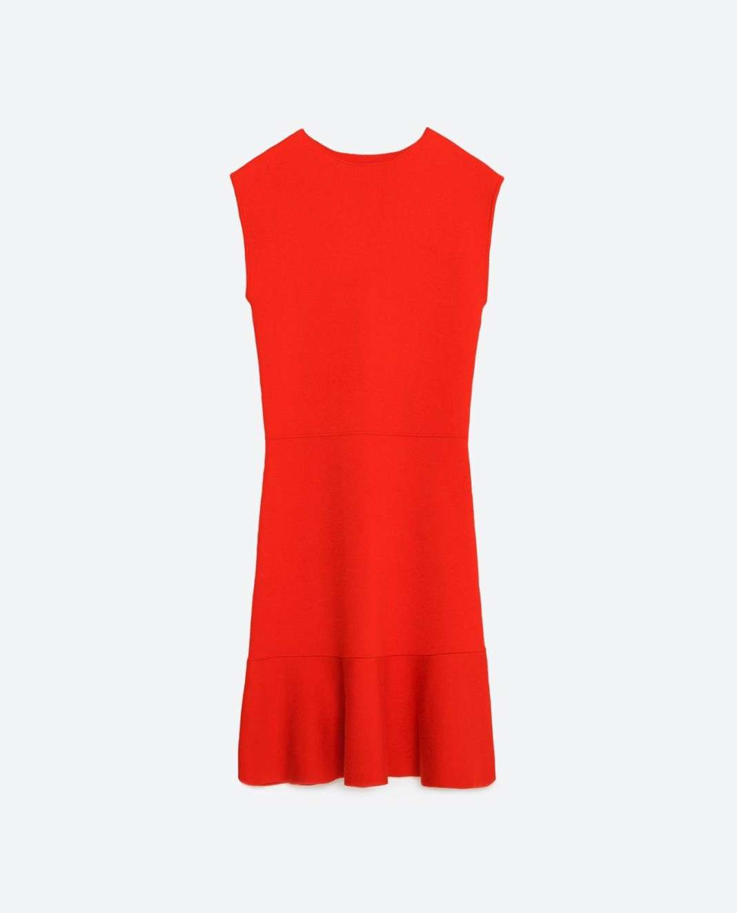 vestidos de Zara para el verano 2016 rojo volante