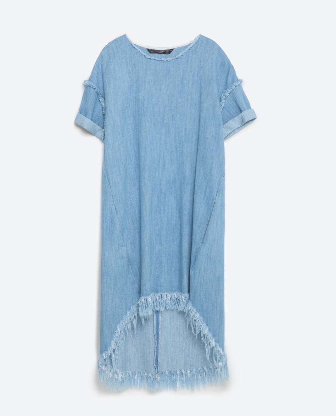 vestidos de Zara para el verano 2016 vaquero flecos