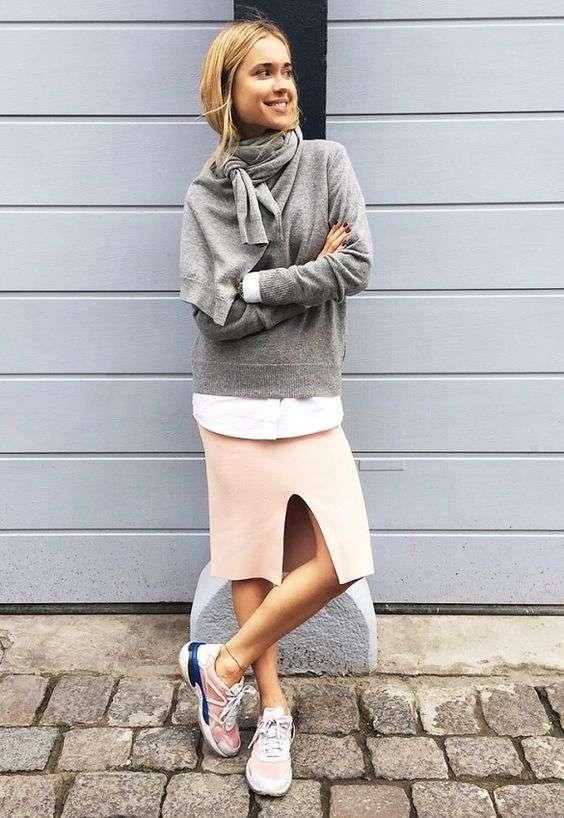looks con sneakers - falda dos