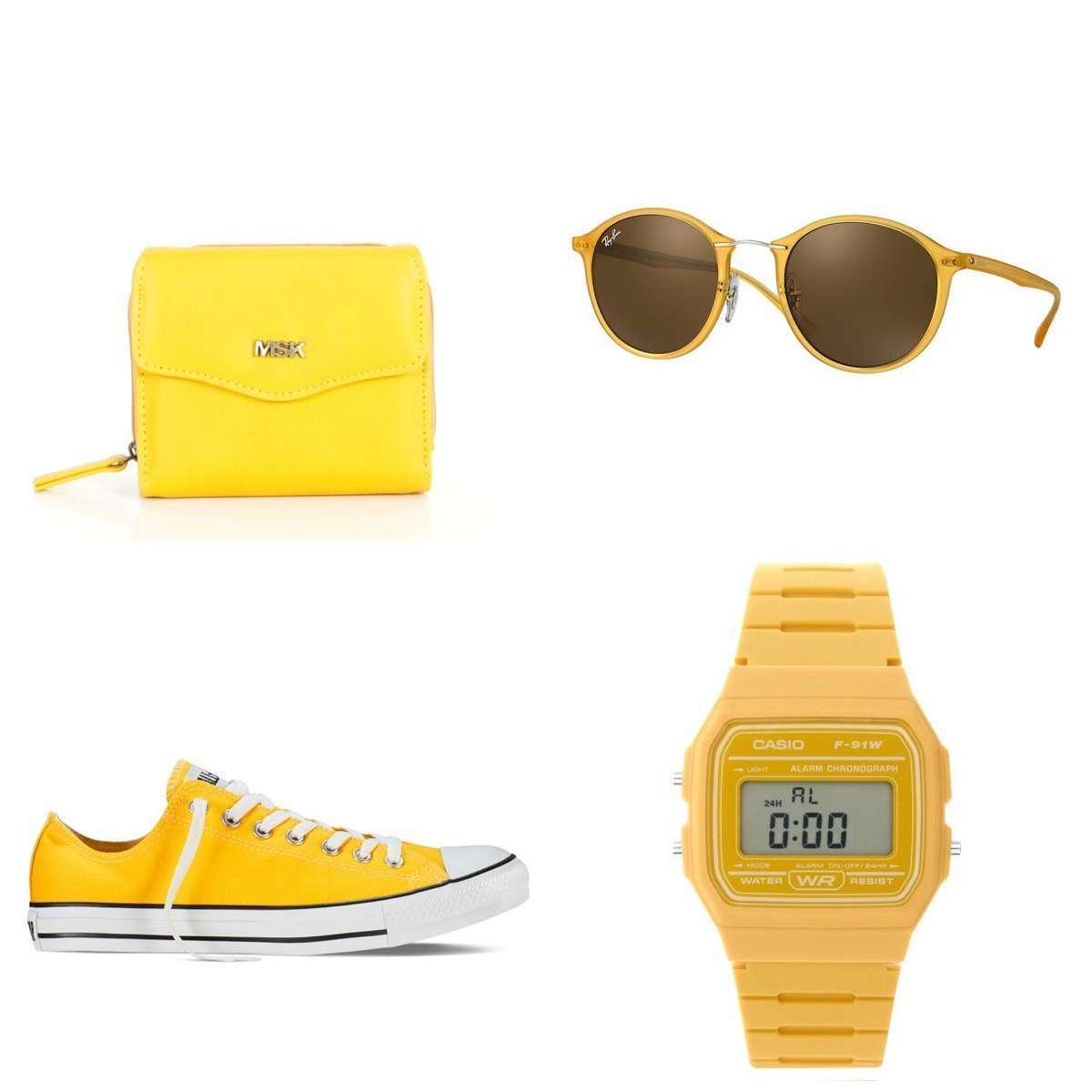 complementos amarillos para combinar la chaqueta amarilla de zara