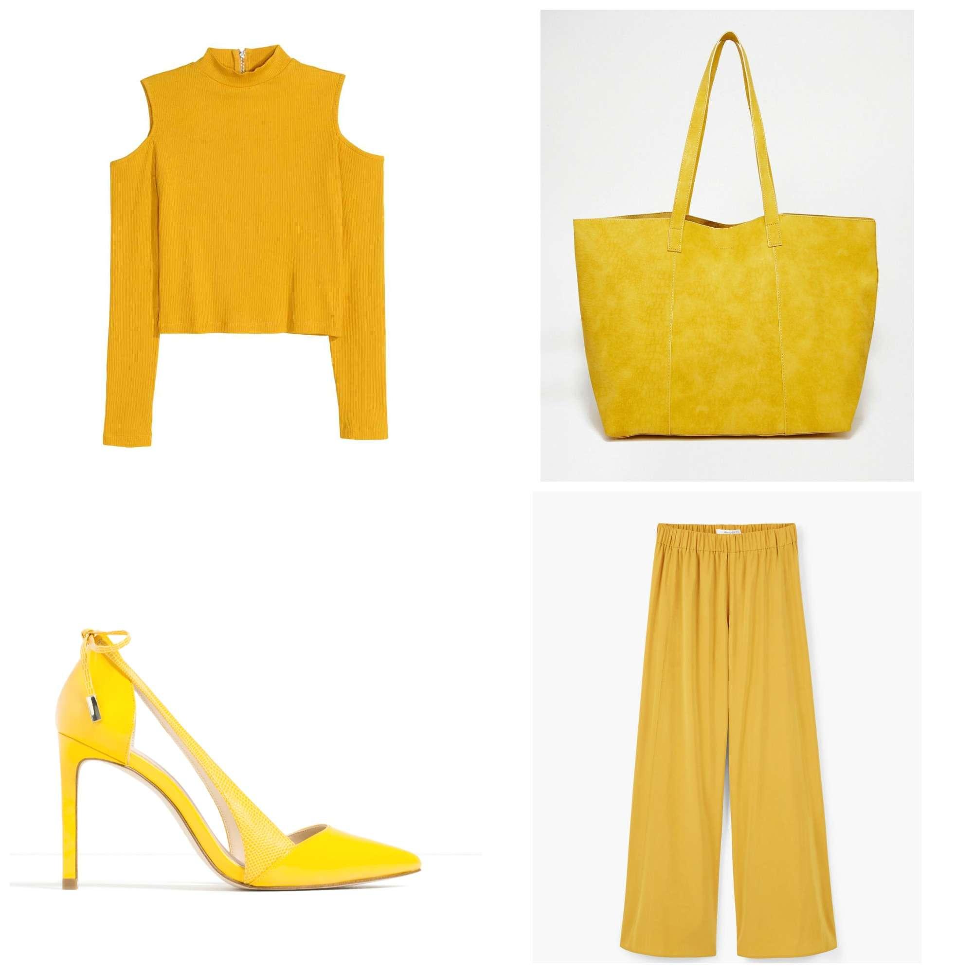 combinar chaqueta amarilla zara