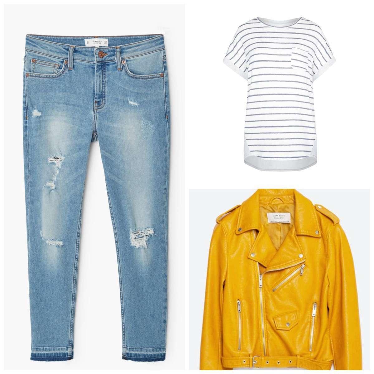 chaqueta amarilla zara cómo combinarla