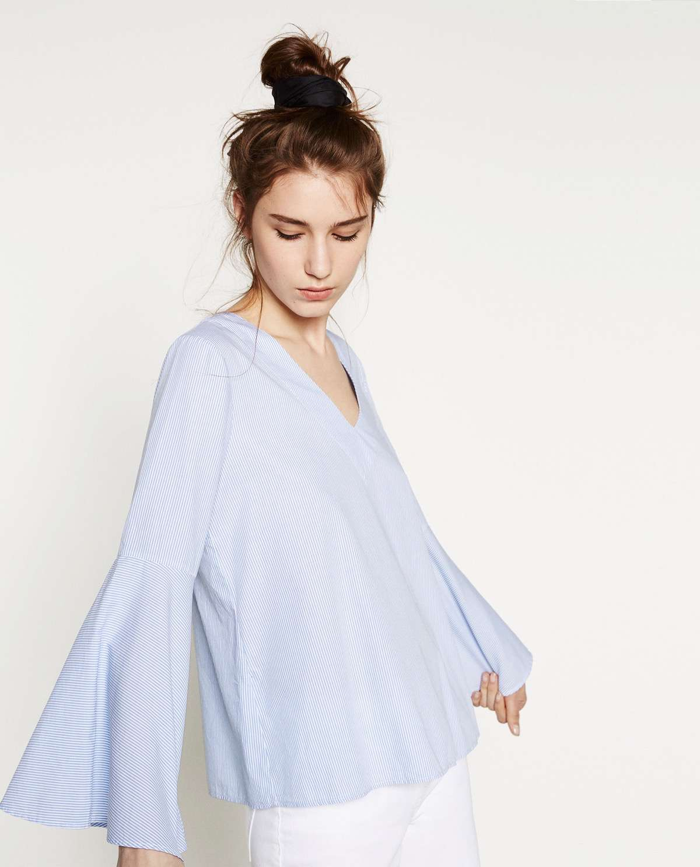 blusas de verano mangas maxi
