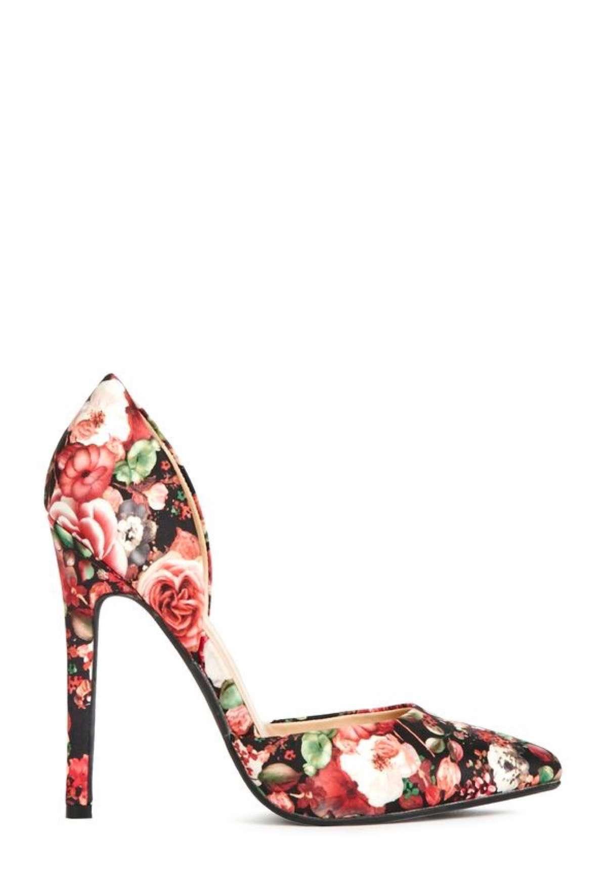 Zapatos estampados de fiesta florales
