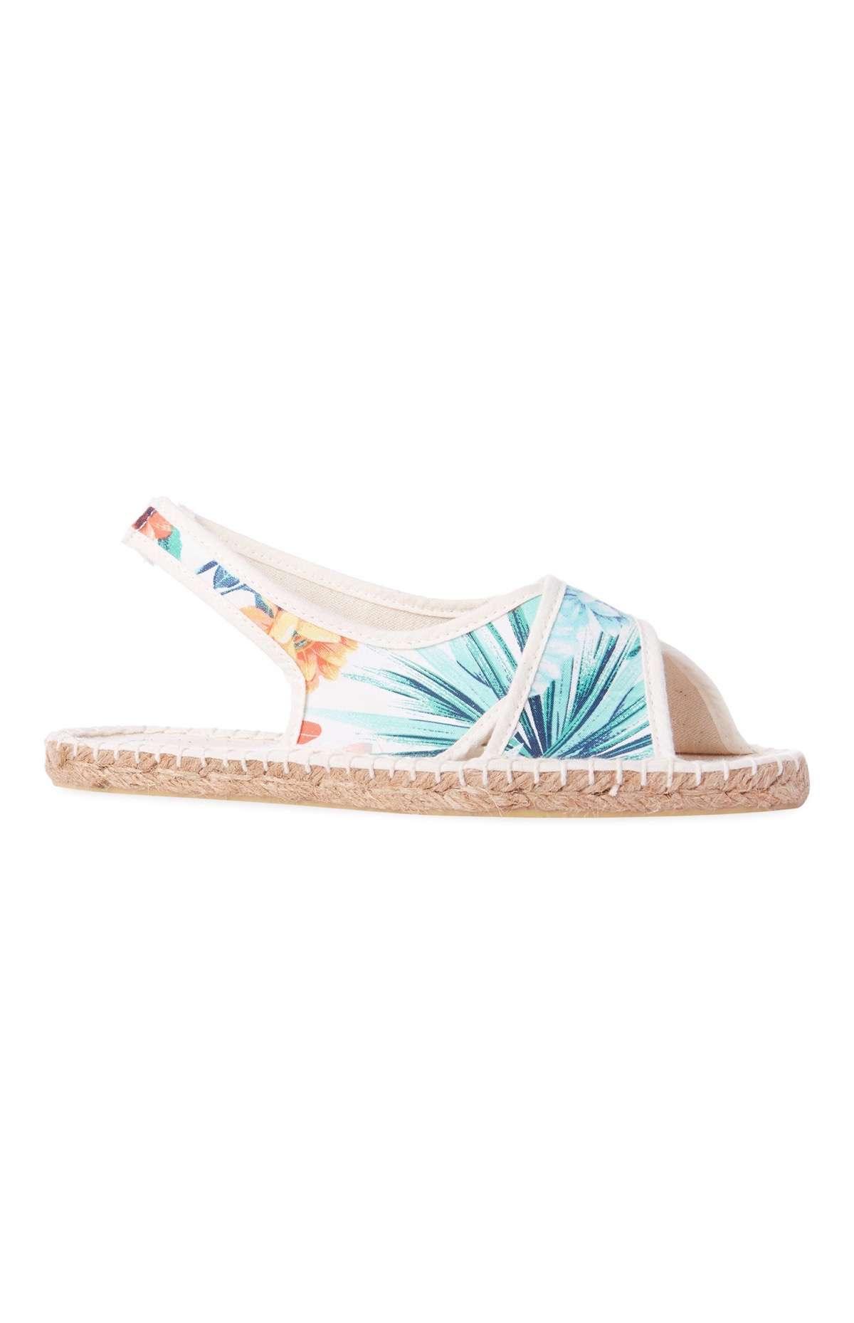 zapatos estampados flores sandalia