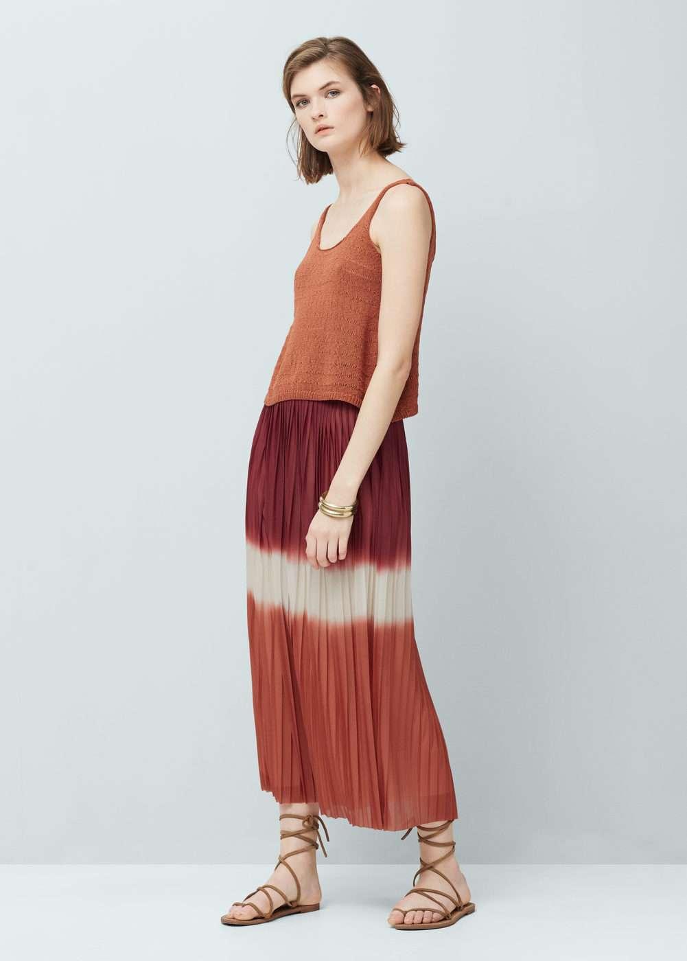 Mango verano 2016 - falda plisada