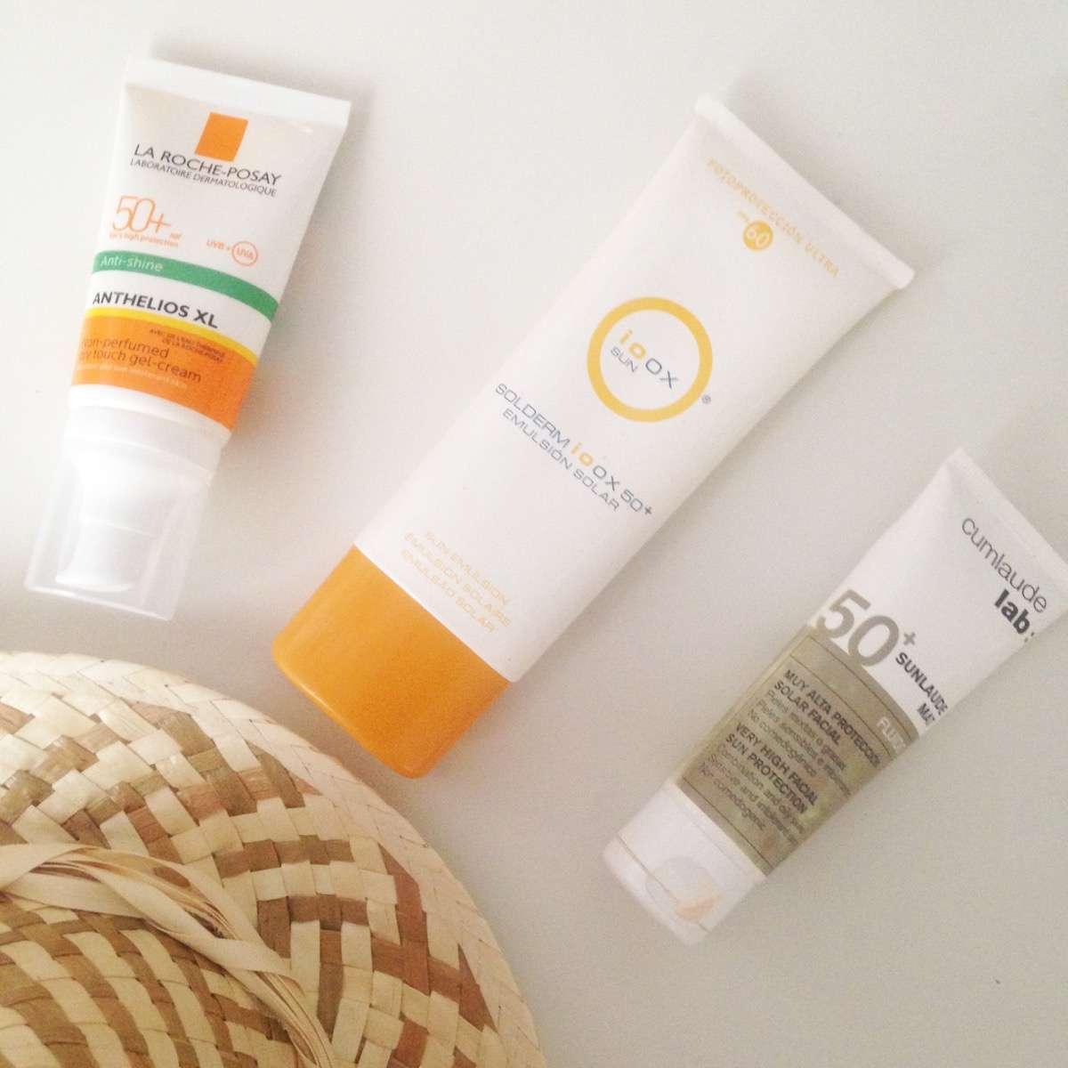 crema solar para el rostro - manchas en la piel