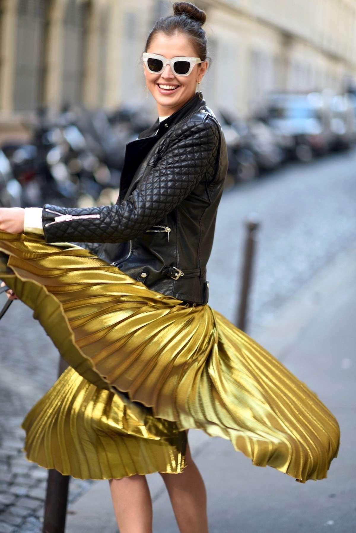 faldas de moda plisadas