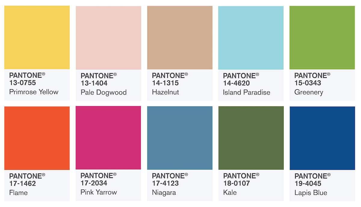 Los colores del año 2017