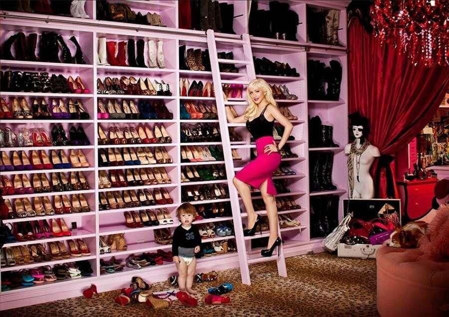 Vestidores de famosas - Christina Aguilera