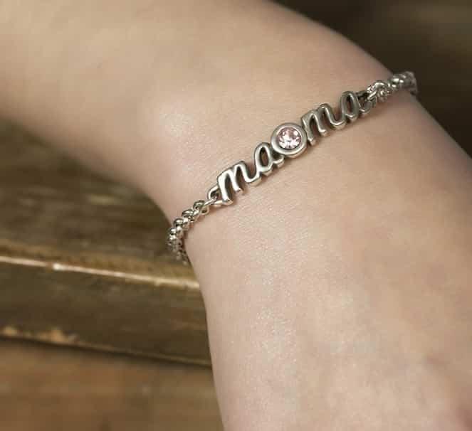 pulsera mama por siempre con swarovski